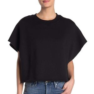 Good American Black Articulated Crop Top Size 2-3